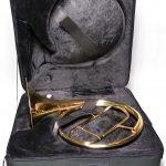 Historisches Naturhorn (Inventionshorn) - Modell Milano mit Koffer
