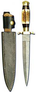 Stiefeldolch: SP-M07 mit Hirschhorngriff - Jagdmesser