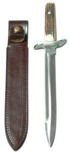 Hirschfänger: SP-M02 mit Hirschhorngriff - Jagdmesser